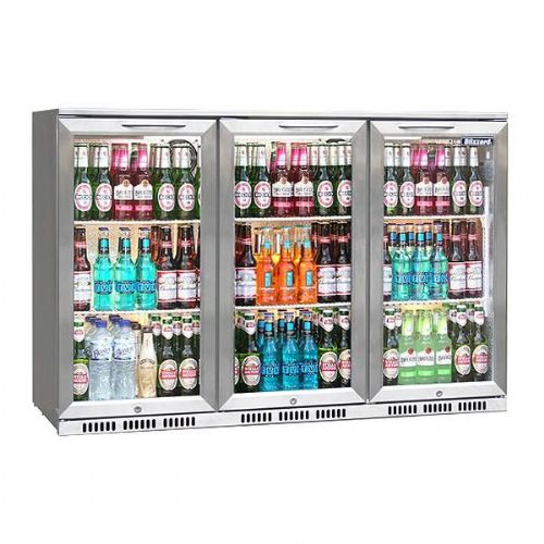 Bar 3  Triple Door SS  Bottle Fridge